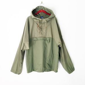 WITHOUT WALLS anthropologie anorak hoodie jacket l